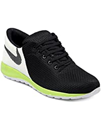 Woakers Men's Smart Fit Black Green Sports Shoes