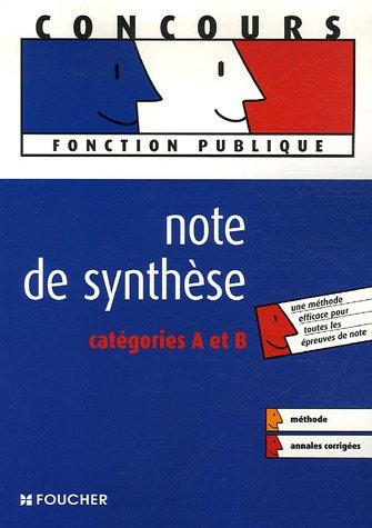 Note de synthèse : Catégories A et B par Gérard Terrien, Rémi Leurion