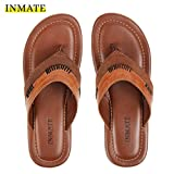 INMATE Men's Comfortable Brown Colour 100% Leather with Memory Foam Casual Ethnic Formal
