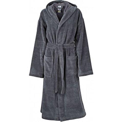 Functional Bath Robe Hooded Bademantel mit Kapuze * Farbe: verschiedene Farben * Gr. S-XXL Carbon