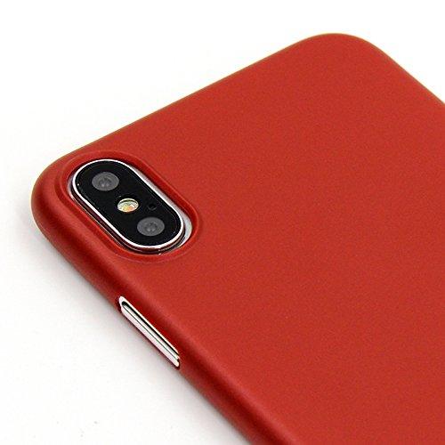 Original CellBee® iPhone X Ultraslim Case - Superdünnes Case für das Apple iPhone X in Deep Black (schwarz) | Nur 0,33mm | Perfekter Schutz gegen Kratzer | Super leicht | Die Schutzhülle ohne Designko Red Edition - Rot