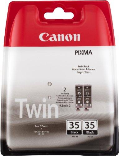 Canon PGI-35 2 Doppelpack original Tintenpatrone Schwarz für Pixma Inkjet Drucker iP100-iP100wb-iP110-iP110wb
