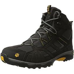 Jack Wolfskin Vojo Hike Mid Texapore 4011361 Herren Wanderschuhe, schwarz (burly yellow 3800), 50