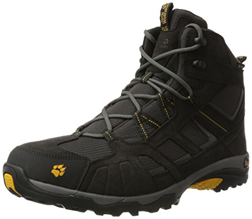 Jack Wolfskin Vojo Hike Mid Texapore 4011361 Herren Wanderschuhe, schwarz (burly yellow 3800), 43