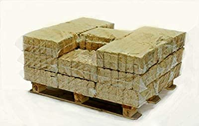 Hotblocks British Made, Eco winter WOOD BURNER FUEL.Half Pallet of 576 Briquettes for use in wood burning stoves, wood ovens, log boilers, chimeneas & firepits