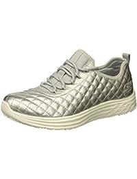 Skechers You-Shine, Zapatillas sin Cordones para Mujer, Negro (Black/White), 36 EU