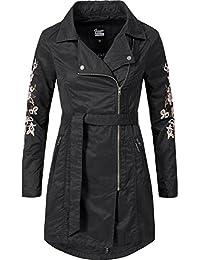 Khujo Damen Mantel Übergangsmantel Trenchcoat YM-Poppy S-XXL