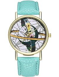 Reloj de Cuarzo para Adolescentes, Estudiantes, Planeta, Cortex, Color Menta