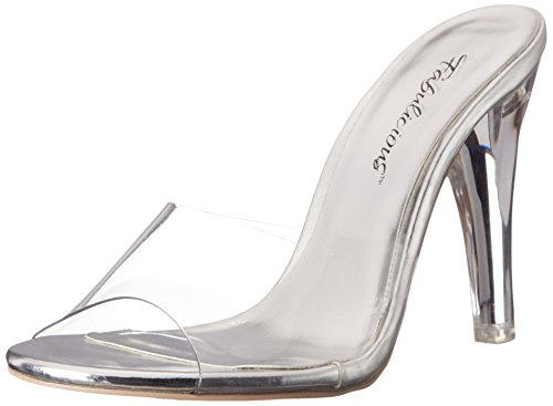 Pleaser Damen Clearly 401 Sandalen Transparent (Clr Lucite)