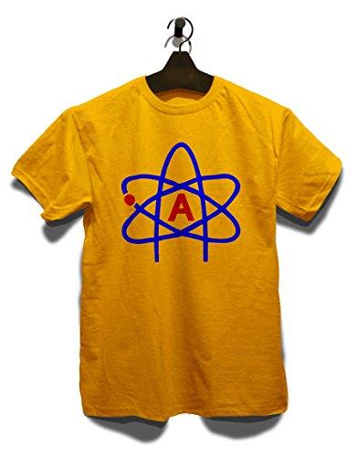 Atheist Symbol T-Shirt Gelb