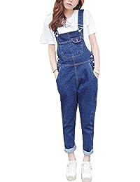 6a93a63201c0 Qitun Denim Jeans da Donna Baggy Strappati Jeans Vita Alta Boyfriend  Pantaloni