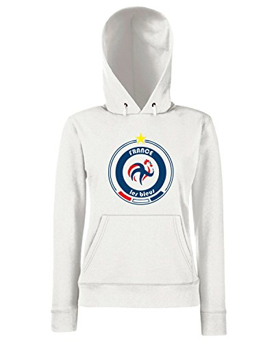 T-Shirtshock - Sweats a capuche Femme WC0678 World Cup Football Team France Blanc
