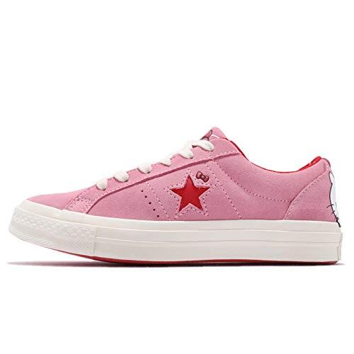 Converse Unisex Erwachsene Chuck Taylor All Star Canvas Sneaker, Pink - Prism Pink/Fiery Red/Egret - Größe: 3.5 M US