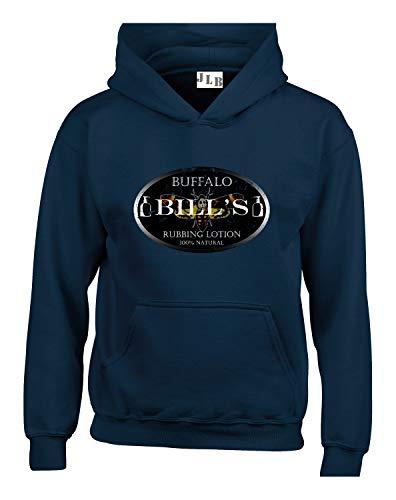 JLB Print Buffalo Bills Lotion Klassischer Horrorfilm Inspiriert Hochwertige Unisex Hoodies fur Manner Frauen und Jugendliche - Marineblau/4X Groß