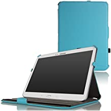 MoKo Slim-Fit Multi-angle Folio Funda para Samsung Galaxy Tab 3 10.1 inch GT-P5200 / GT-P5210 Tablet, AZUL Claro (Con Cierre Magnético Para Reposo Automático / NO va a caber el Tab 4 10.1)