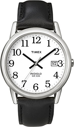 Timex-Mens-Reader-Date-Leather-Strap-Watch