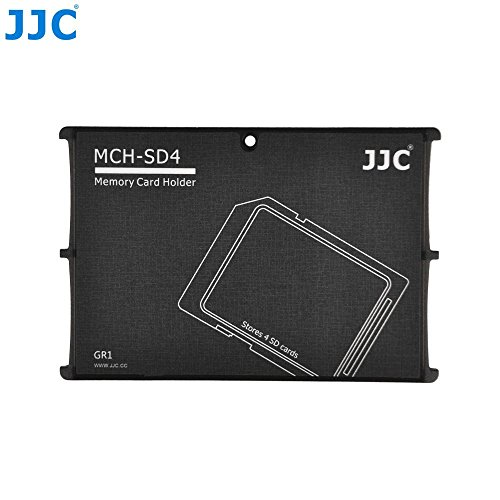 JJC MCH-SD4 Credit Card Size Memory Card Case Holder Protector For 4 x SD Cards MC-2