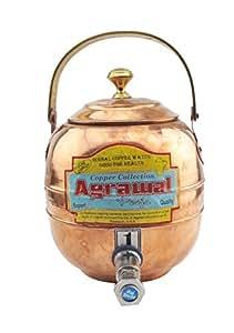 3 litres Portable 100%  cuivre Carafe d'eau avec robinet-bonne santé de séances d'Ayurveda