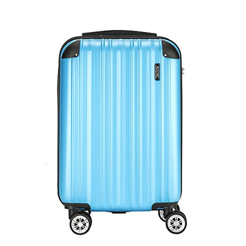 Sunydeal Valise cabine ABS ultra léger Voyage...