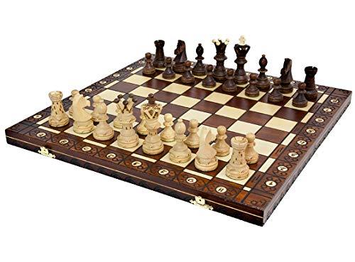 Zohar Schach-Set, Handgefertigt, 52,1 cm Mahagoni