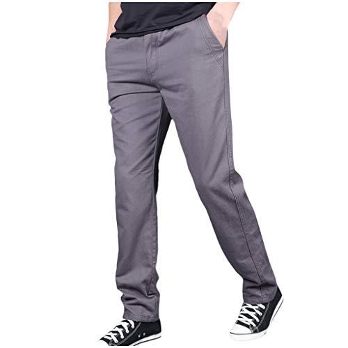 Xmiral Jogginghose Herren Große Größe Reißverschluss Cargohose Einfarbig Hosen Multi-Tasche Overall Sporthose(b Grau,L)
