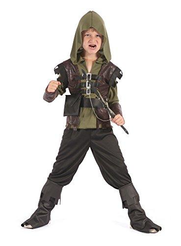 Bristol Novelty CF064 Jäger Kostüm, Größe 5-7 Jahre (Herren Kapuzen Jäger Kostüm)