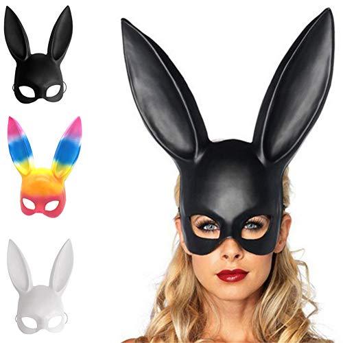 BESTEU Halloween Cosplay Bunny Maske Halloween Party Kostüm Ball Bunny Ear Maske