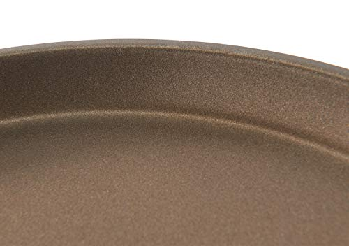 RÖSLE SILENCE Crêpes Pfanne Ø 28 cm mit Antihaftversiegelung, Edelstahl 18/10, silber/bronze, Silikongriff, Profiqualität, induktionsgeeignet, spülmaschinengeeignet