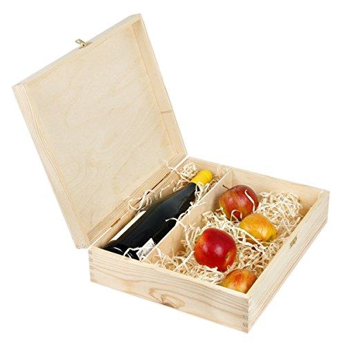 Geschenkbox mit Deckel und Schloss für 1 Flasche Wein und Zusatzartikel
