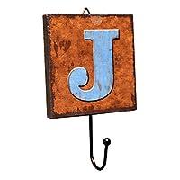 Panda Legends Creative Retro Style Wall Hooks Wood Material Letter Pattern Decorative Hook (J)