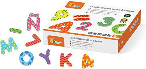 Viga- lettere e numeri magnetici in legno, 2043601