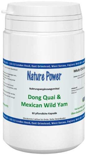 Nature Power Dong Quai & Mexican Wild Yam Kapseln 60 pflanzlichen Kapseln = 33 g
