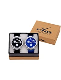 FNB Combo Blue Black Dial Analogue Watch For Men Fnb0093