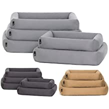 Cama para perros de Pointer, con cojín, ortopédica, borde suave, estable,