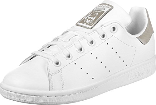 adidas Unisex-Kinder Stan Smith J Gymnastikschuhe, Elfenbein (Ftwr White/Ftwr White/Ftwr White), 35.5 EU (Comfort Smith Stan)