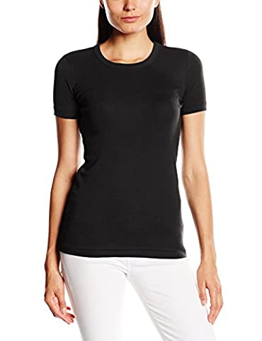 Petit Bateau 14895 - T-shirt - Uni - Col ras du cou - Manches courtes - Femme - Noir - FR: 34 (Taille fabricant: XS/14 ans)