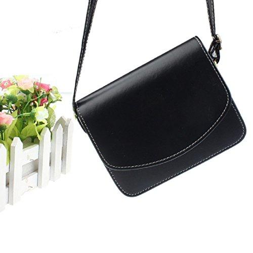 Saingace Schulter-Beutel-Schultaschen-Handtaschen-Retro- Kurier der Frauen Handtaschen Schultertasche Freizeitrucksack Tasche Rucksäcke Schwarz