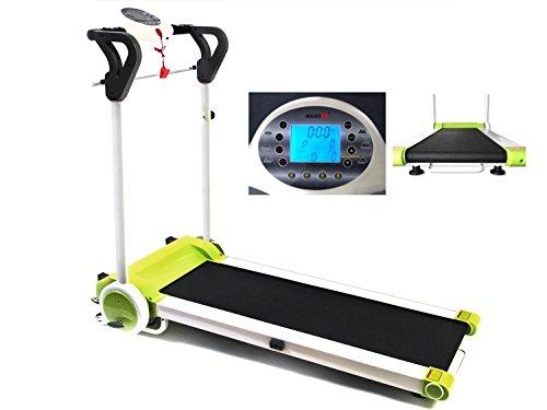MAXOfit® Laufband Greenline MF 7 Sportgerät | bis 12 km/h | Platzsparend Klappbar | Mit Leisem Elektromotor | Digitalanzeige | Für Zuhause