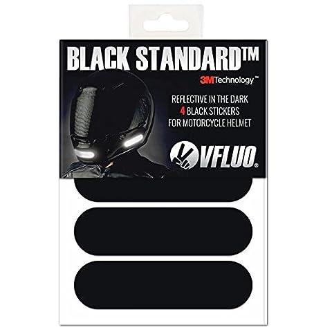VFLUO BLACK STANDARD™, Kit 4 bandes stickers rétro réfléchissants pour