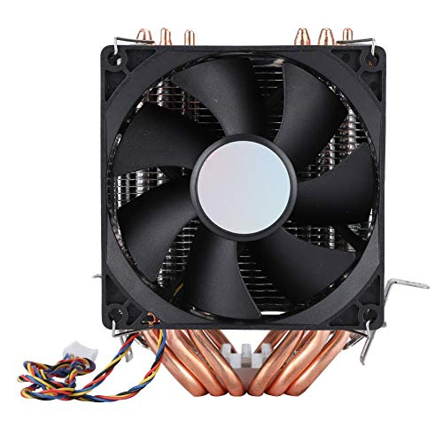 Bewinner 4pin 6 Heatpipe-CPU-Kühler Dual-Tower-Luftkühlung CPU-Lüfterlüfter 800-2200 Revolution Heatpipe Ruhiger CPU-Kühler für AMD, Intel 775 1150 1151 1155 1156 1366 -