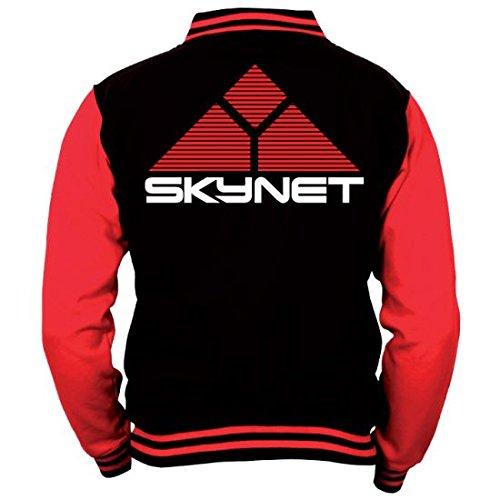 Terminator Baseball Varsity Giubbotto Jacket Skynet Logo Size S CODI