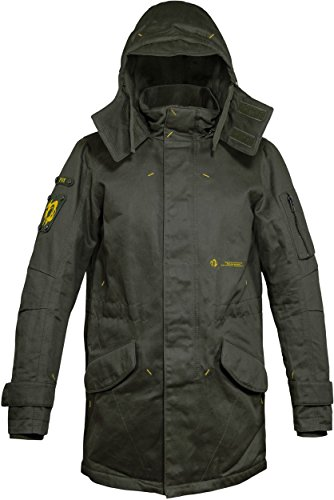 Musterbrand Metal Gear Solid Jacket Men Scout Water Repellent Parka Field Jacket Coat Green