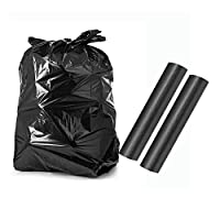 Amasawa 2 Rolls of 20 Black Bin Bags,Heavy Duty Refuse Sacks,Ideal For Hotels, Families, Offices, Garden Businesses, Restaurant Operators