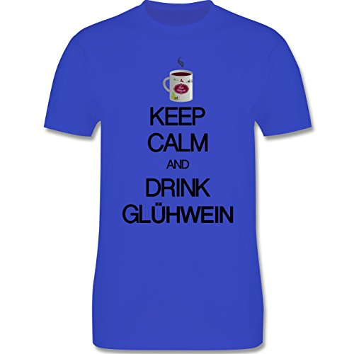 Keep calm - Keep calm and drink Glühwein - Herren Premium T-Shirt Royalblau