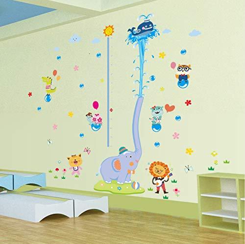 Zybnb Kleine Elefanten Wasser Spray Höhe Aufkleber Aufkleber Kinder Schlafzimmer Schlafzimmer Wohnzimmer Dekoration Hintergrund Wandaufkleber