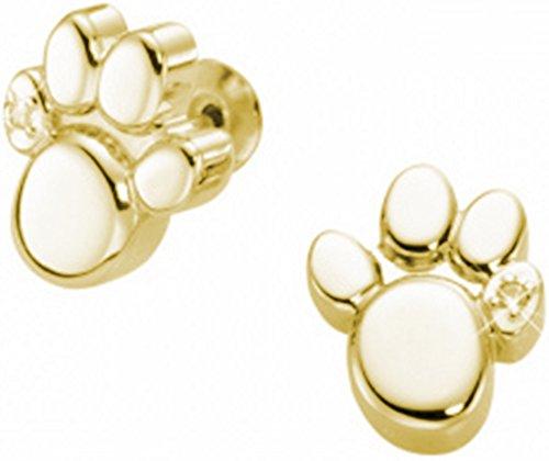 Orecchini Studs Magnet - leg (cane - gatto - Orso) placcato in oro 24k - Energetix 4you 1387P g / 2250 - Con Swarovski Crystal sacchetto dei monili
