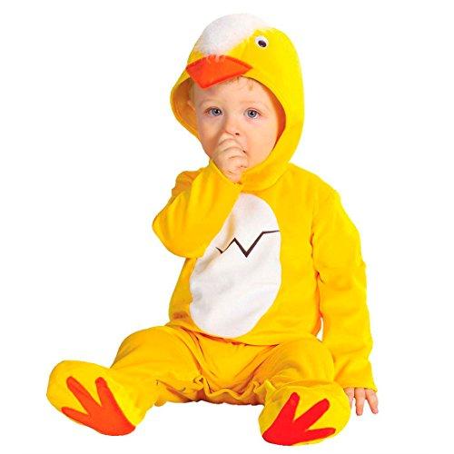 aby Kostüm Huhn Kükenkostüm Overall Tweety Strampler Babystrampler Tierkostüm Jumpsuit (Huhn Baby Kostüme)