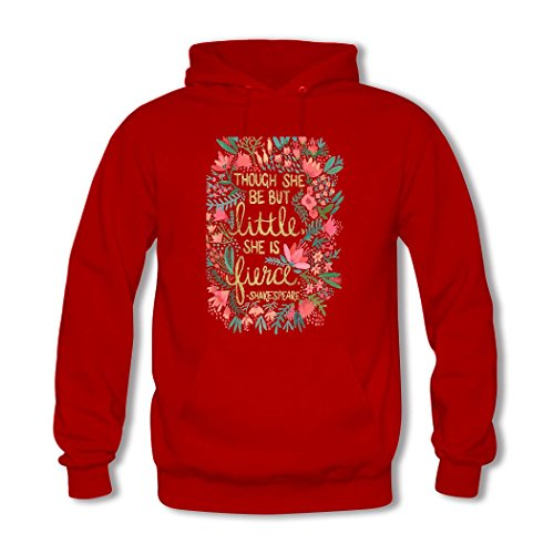 weileDIY Little & Fierce DIY Custom Classic Women Hoodie Sweatshirt Red_A
