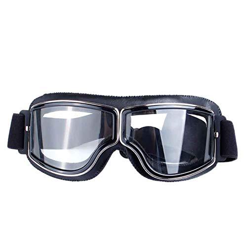 Wongfon retrò occhiali moto aviatore pilota Cruiser scooter occhiali da vista per casco Harley occhiali