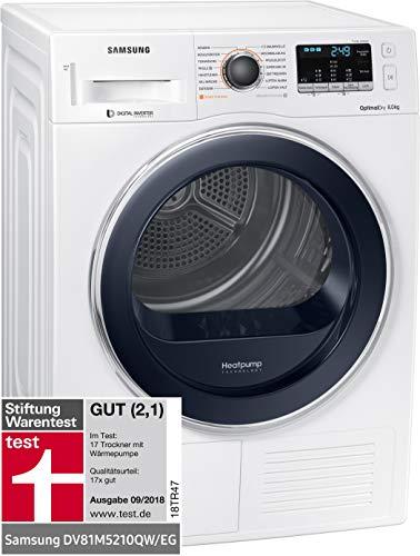 Samsung DV5000 DV81M5210QW/EG Wärmepumpentrockner/A+++/OptimalDry/Kondenswasserstandsanzeige/Weiß